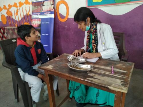 Oral Health Care at Maharishi Public School, Gurugram