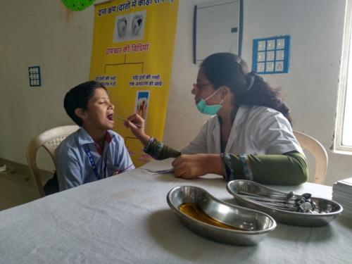 Oral Health Camp at Little Angel School, Jhajjar, Haryana