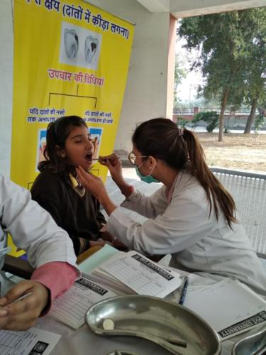 Oral Health Care at Chotu Ram Memorial School, Rohtak