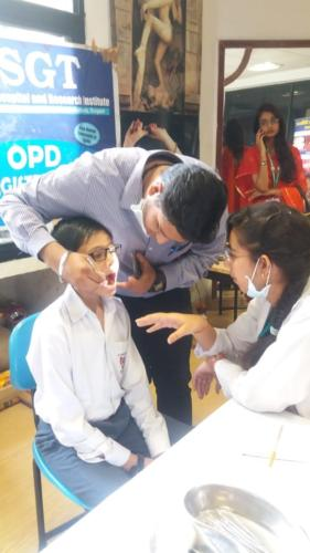 Oral Health Camp at KIIT World School, Pitampura, Rohini, New Delhi