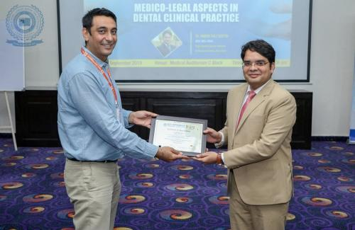 CDE on MEDICO LEGAL ASPECTS IN DENTAL CLINICAL PRACTICE